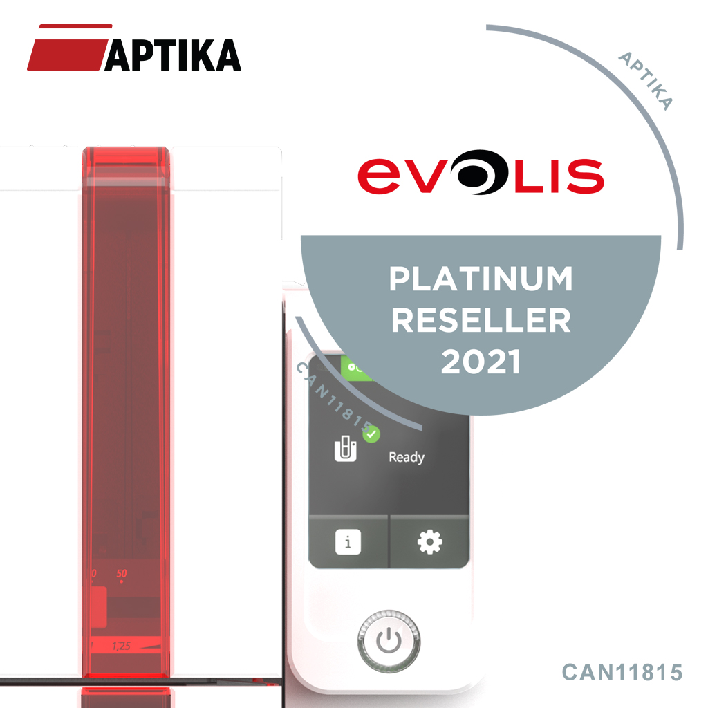 For the third time, Aptika obtains the Platinum level in the Evolis Red Program!