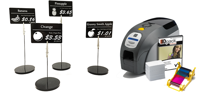 price tag holders card printer
