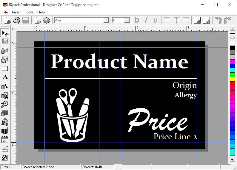 price tag idpack designer