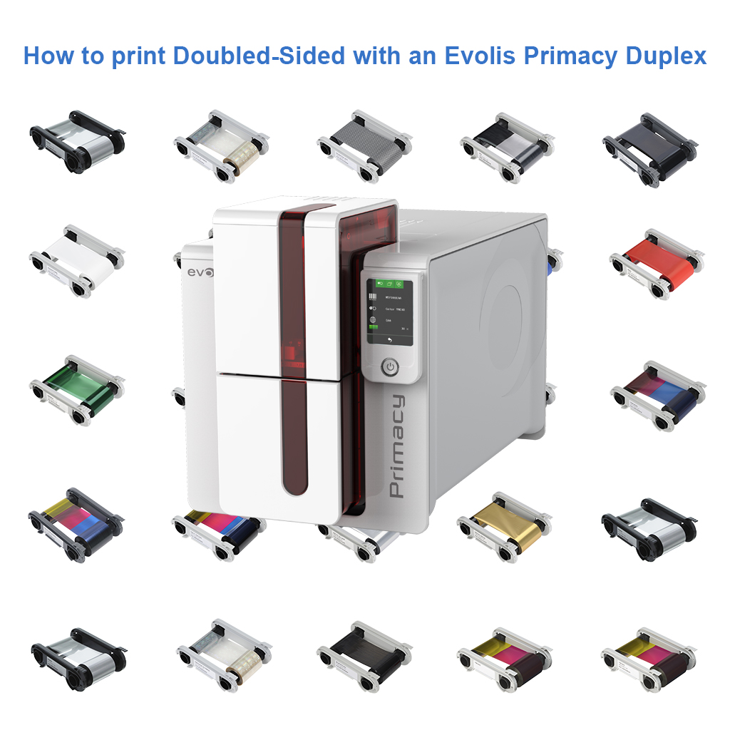 How to print Doubled-Sided with an Evolis Primacy Duplex