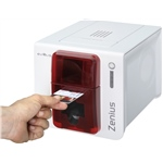 Evolis Zenius Expert line Fire Red - USB & Ethernet - Mag ISO