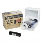 IDP SMART-21 5 Panel Color Ribbon - YMCKO - 100 prints + 100 CR80 PVC