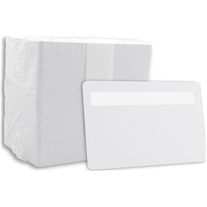Blank PVC Cards White with Sig Panel
